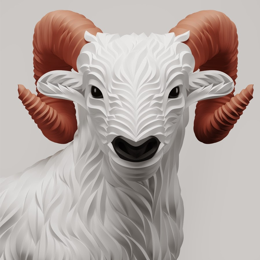 12-Ram-Maxim-Shkret-Digital-Origami-Animal-Art-www-designstack-co
