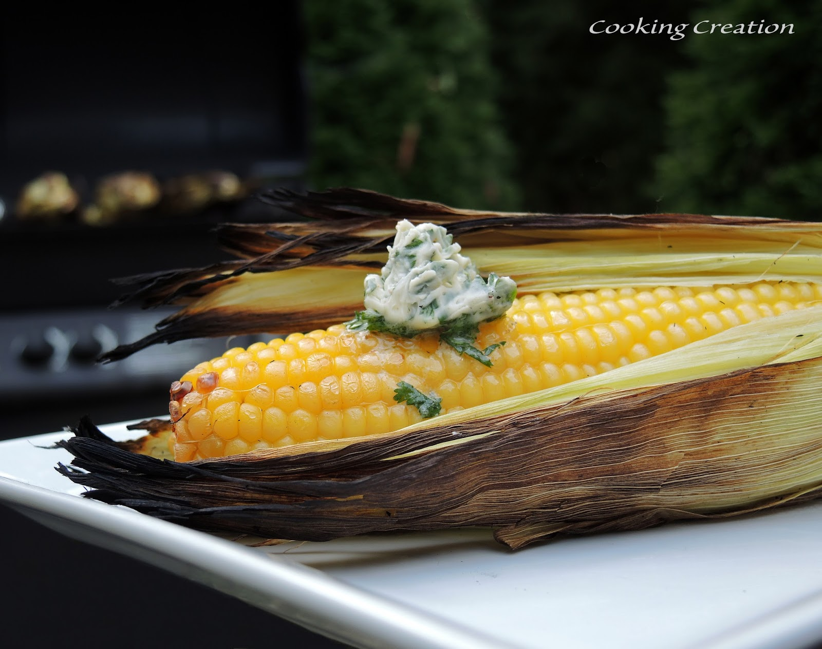 Cooking Creation: Grilled Corn on the Cob with Cilantro-Lime Butter