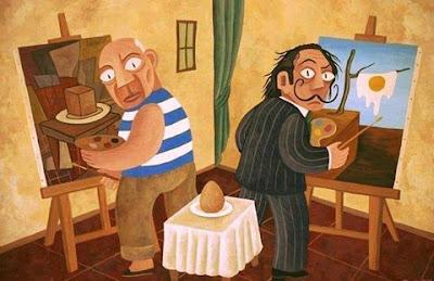 Picasso y Dalí en Quetelapiqueunpollo