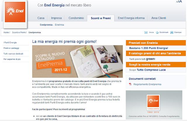 Raccolta punti EnelPremia di Enel Energia