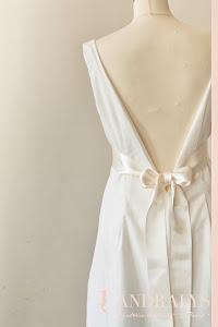 Robe de mariée courte dos nu