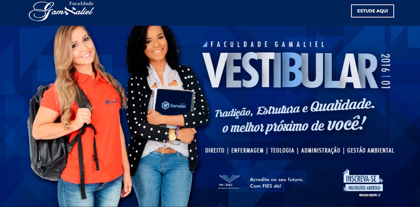 Vestibular/2016: Faculdade Gamaliel realizará no próximo dia 29 processo seletivo para os Cursos de