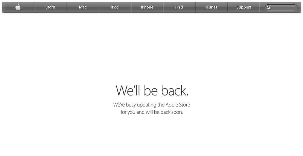 Apple's Online Store goes offline for iPhone 6 event