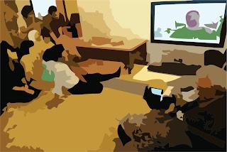 Menonton televisi bersama