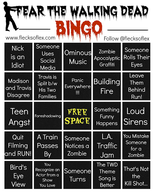 Fear The Walking Dead bingo board