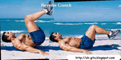 Latihan Six pack reverse Crunch oh-gitu.blogspot.com