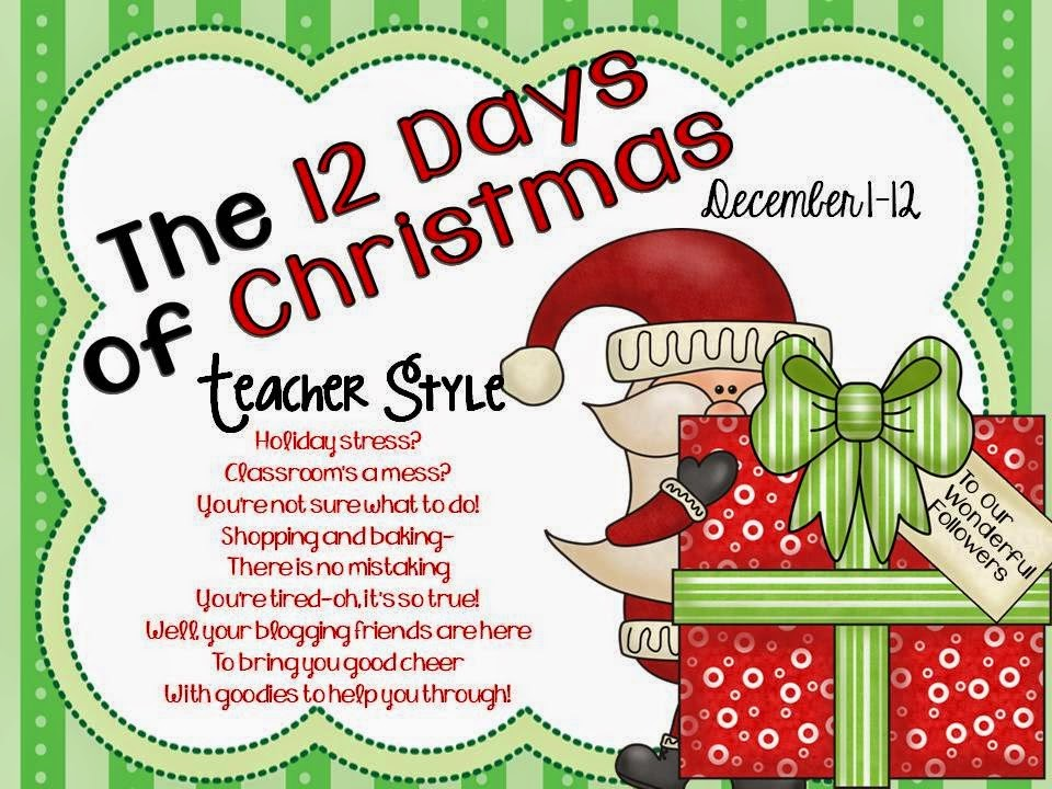 12 days of christmas teacher style linky party