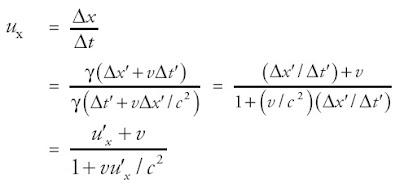 transformasi kecepatan relativistik