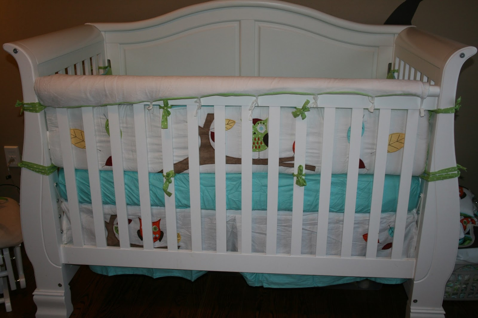 Nice The diaper stacker uses the coordinating fabrics so you can hang it on the crib or a hook and plete the look of your nursery