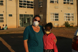 Teresa and Thobile at the TB Hospital