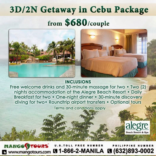 Mango Tours Philippines Cebu Alegre Beach Resort Promo Package Accommodation