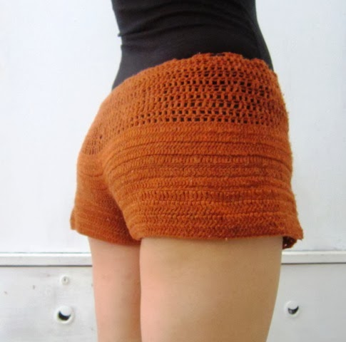 Crochet Pants : Crochet Chister: Brown Crochet Short Pants