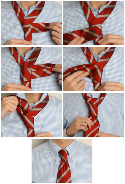завязывался на галстуках с