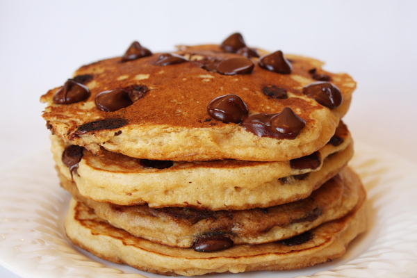 Whole Wheat Chocolate Chip Pancakes by Recipe Girl