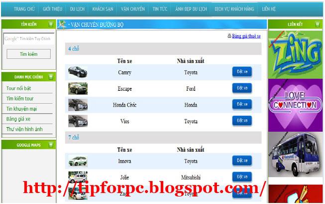 Source ASP.Net Mã nguồn code Website giới thiệu công ty du lịch + báo cáo