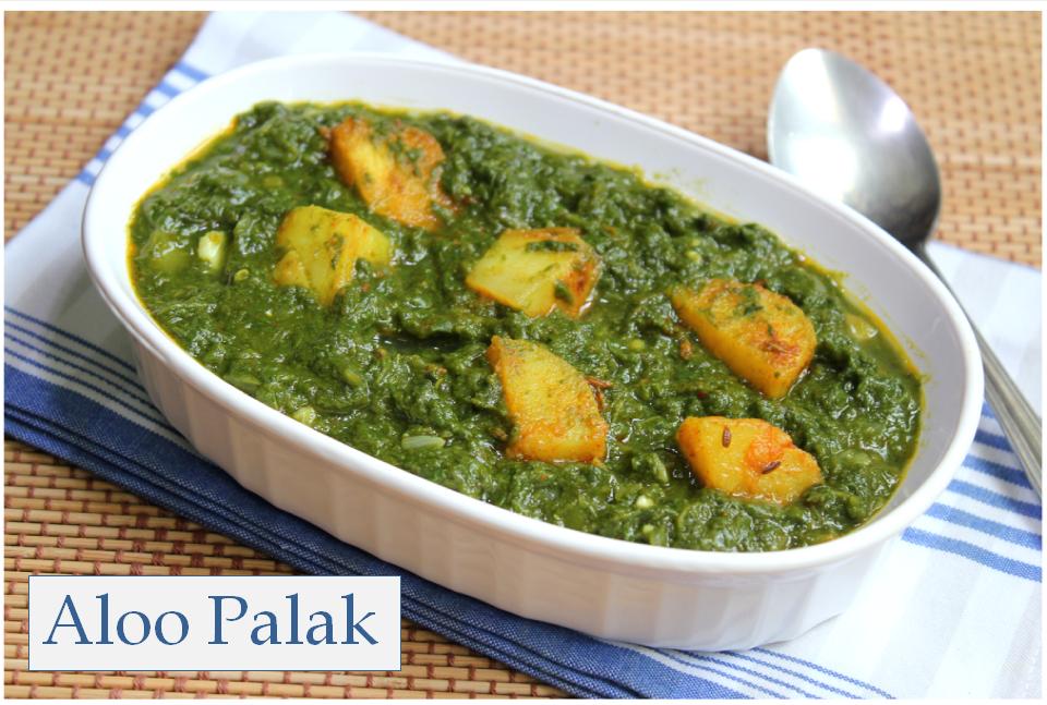 ... aloo palak spinach with potatoes recipes dishmaps aloo palak spinach