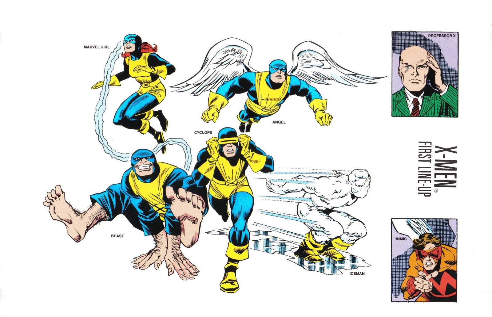 the unpublished x men update team line ups ron s credit was omitted from the first line up printed in issue 23 but was printed as a correction in the next issue we will bring you more team line ups