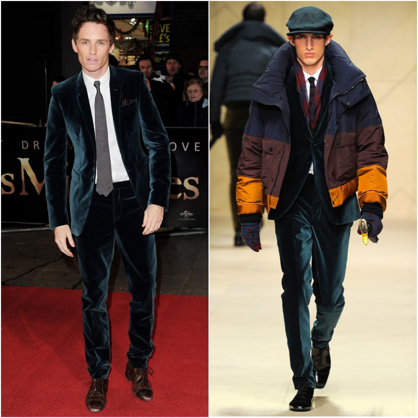 00O00 London Menswear Blog Celebrity Style Eddie Redmayne in Burberry - Les Miserables World Premiere, London