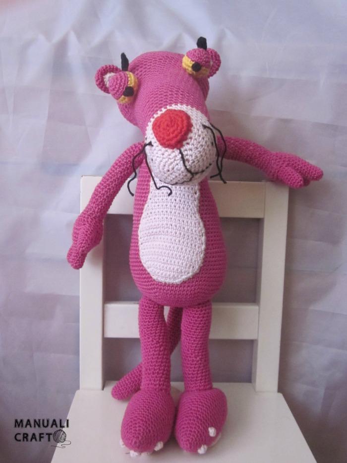 Pantera rosa en amigurumi   Manualicraft - Costura creativa