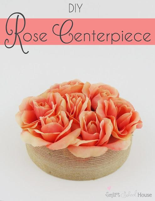 Como fazer uma peça central Rose # DIY