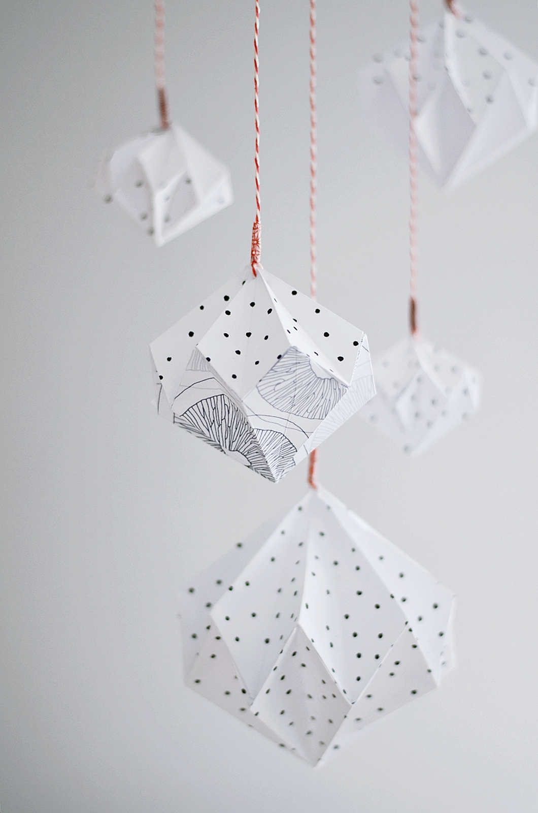 diy diamantes de origami alquimia deco. Black Bedroom Furniture Sets. Home Design Ideas