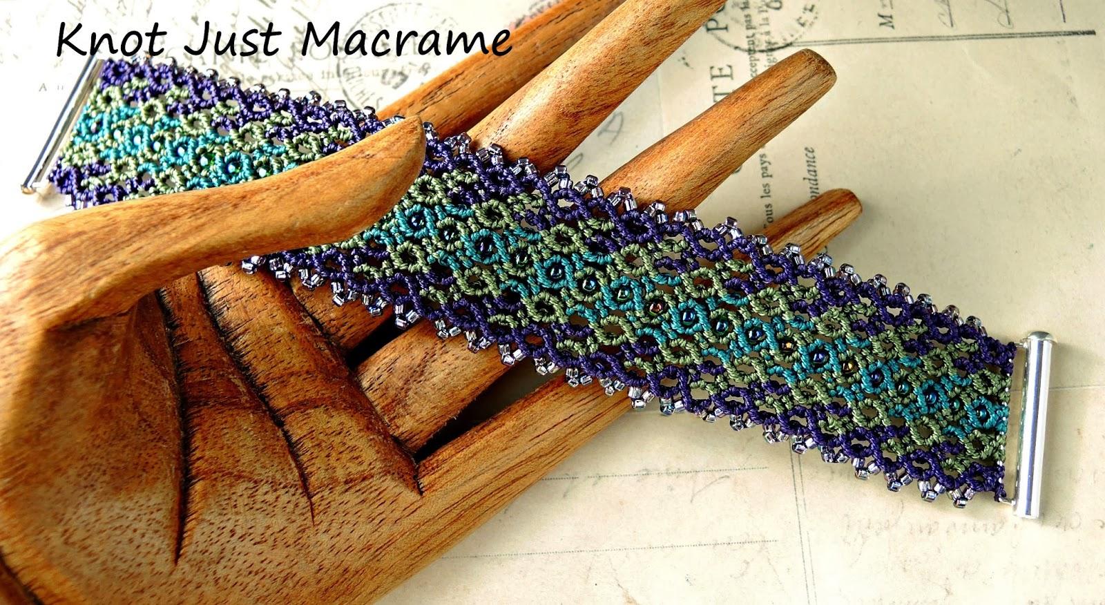 Micro macrame bracelet by Sherri Stokey of Knot Just Macrame