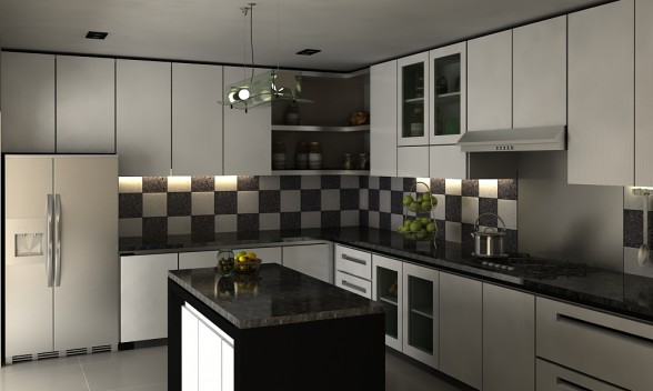 Cahaya interior desain contoh desain dapur for Kitchen design kit