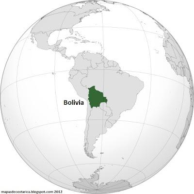 Localización geográfica de Bolivia en el mundo