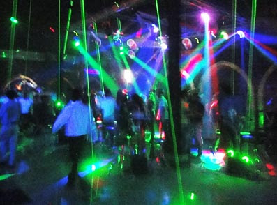 Yangon nightlife spot at the disco