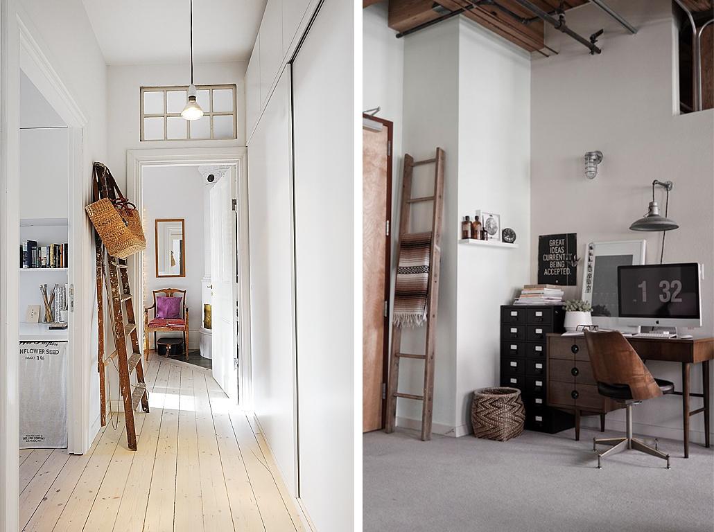 C mo reciclar antiguas escaleras de madera espacios en madera - Habitaciones con escaleras ...