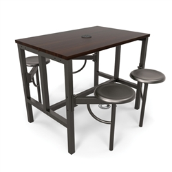OFM Endure Series Standing Height Table with 4 Stools
