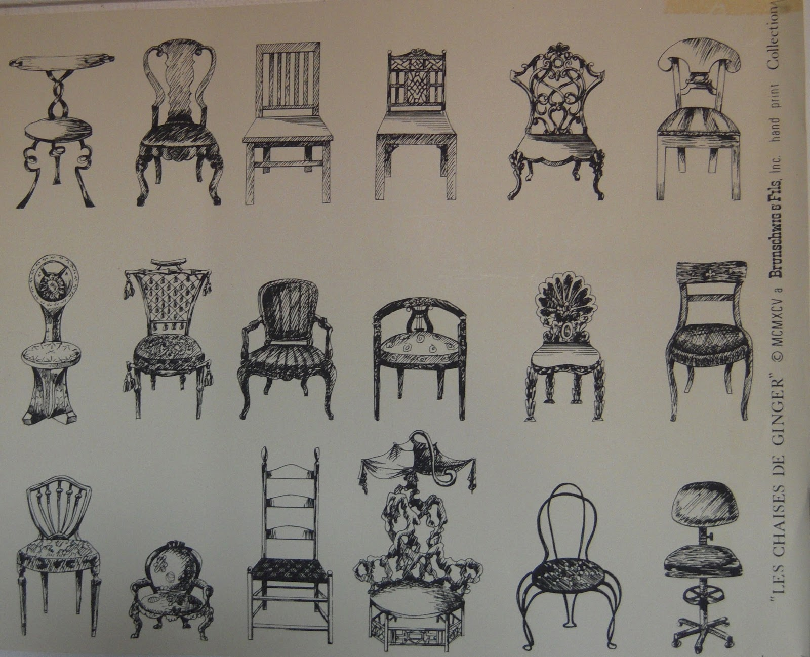Light color design les chaises de ginger for Chaises design colorees