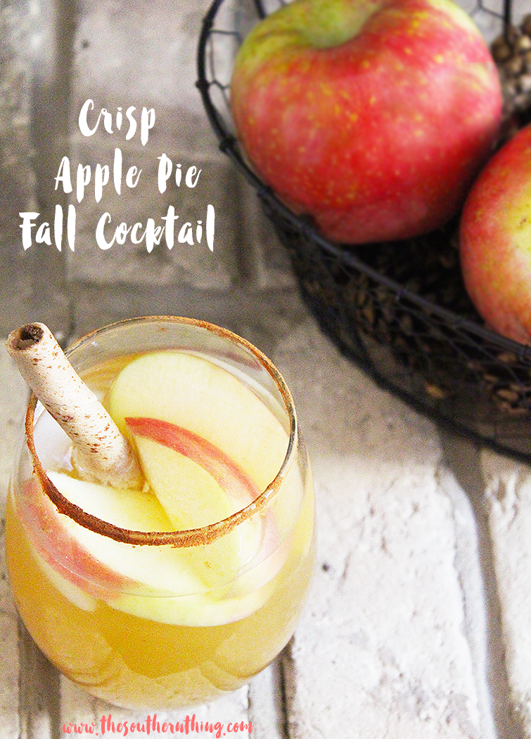 Crisp Apple Pie Fall Cocktail
