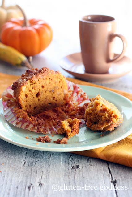Gluten-Free Goddess Pumpkin Streusel Muffins