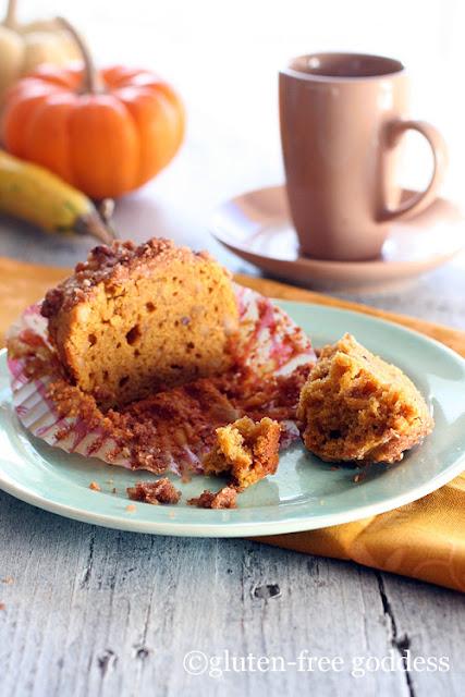 Gluten-Free Goddess Pumpkin Streusel Muffins
