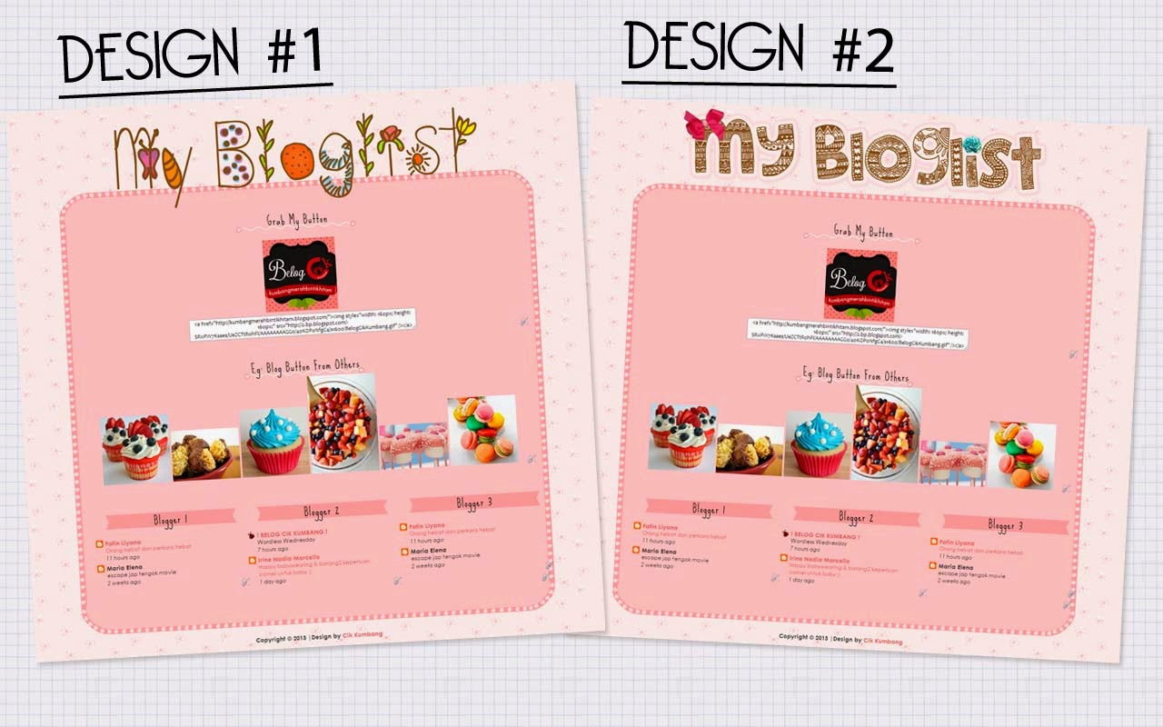 Template Design Bloglist