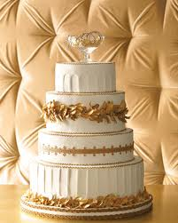Martha Stewart Unique Bejeweled Wedding Cake
