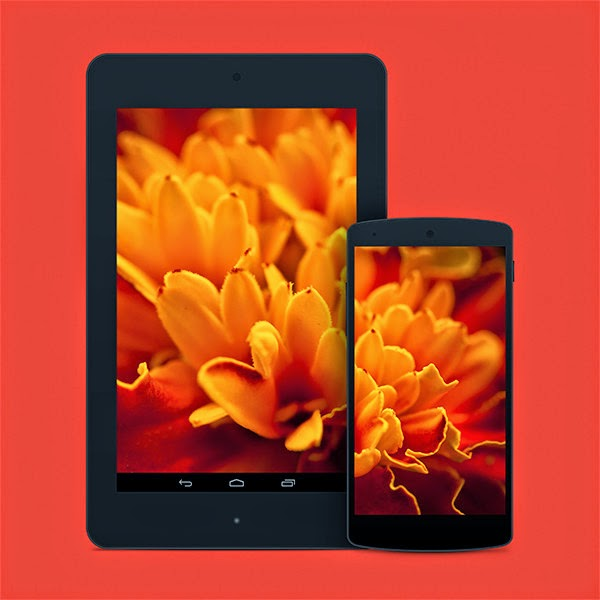 Nexus 7 PSD Mockup Templates 6
