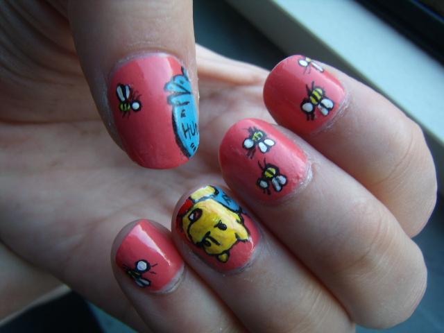 Diynails Nail Art Winnie The Pooh