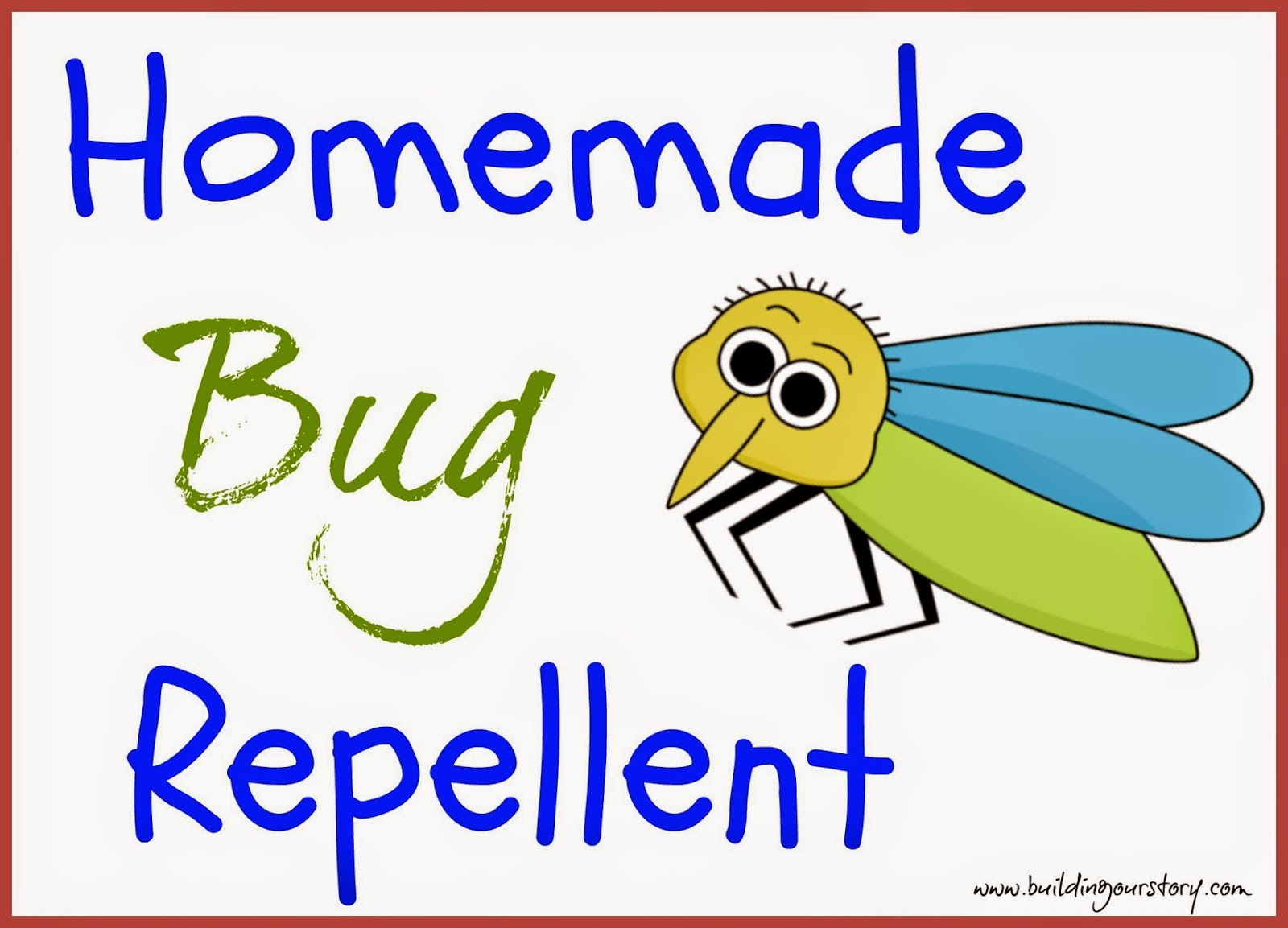 Homemade Bug Repellent #DIY   Natural Bug Spray.  How to make your own bug spray.  Mosquito repellent recipe with lavender Oil