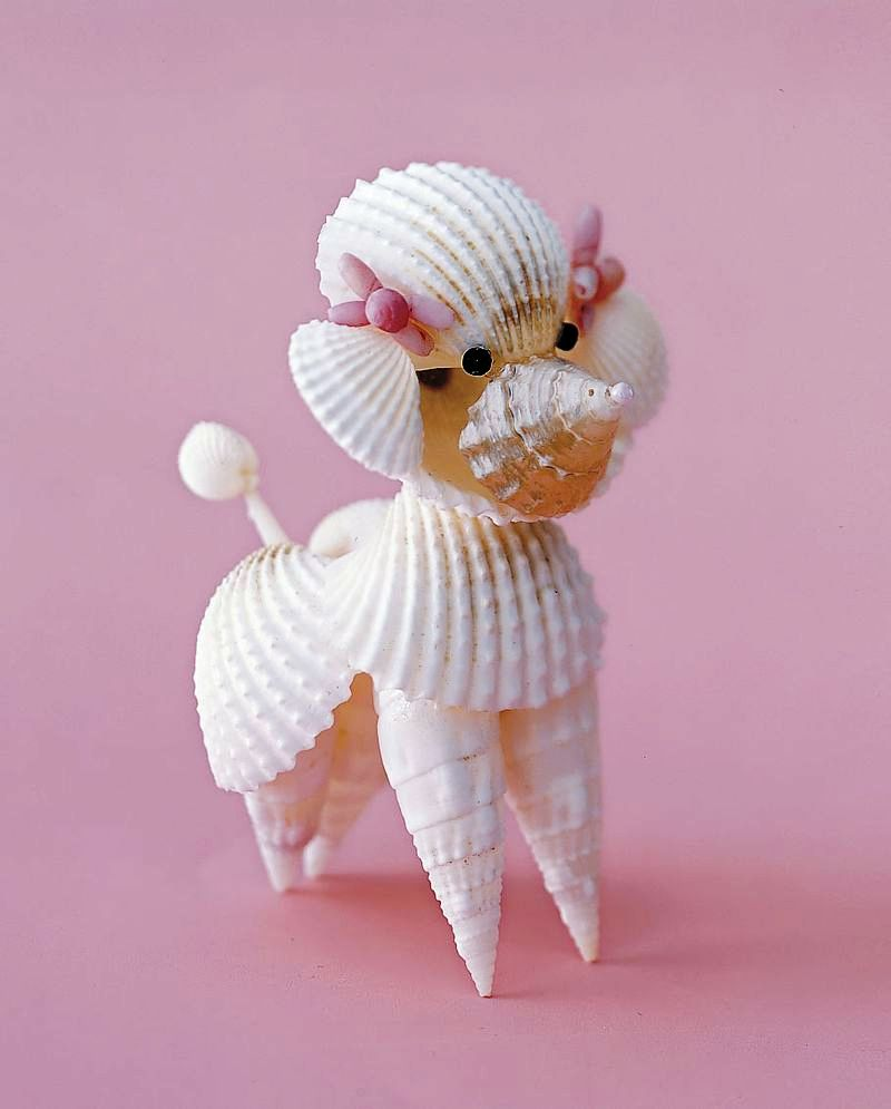Seashell craft to make origami instructions art and for Seashell ornaments craft