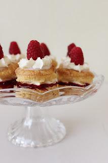 Frambozen-millefeuille taartjes