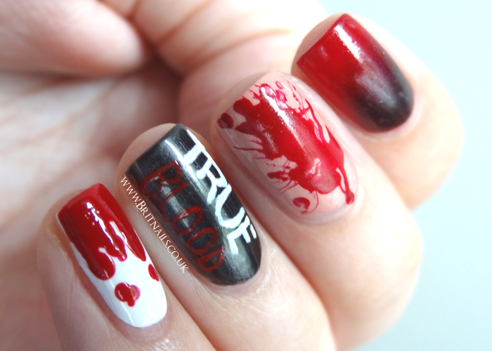 True blood nail art brit nails true blood nail art prinsesfo Choice Image