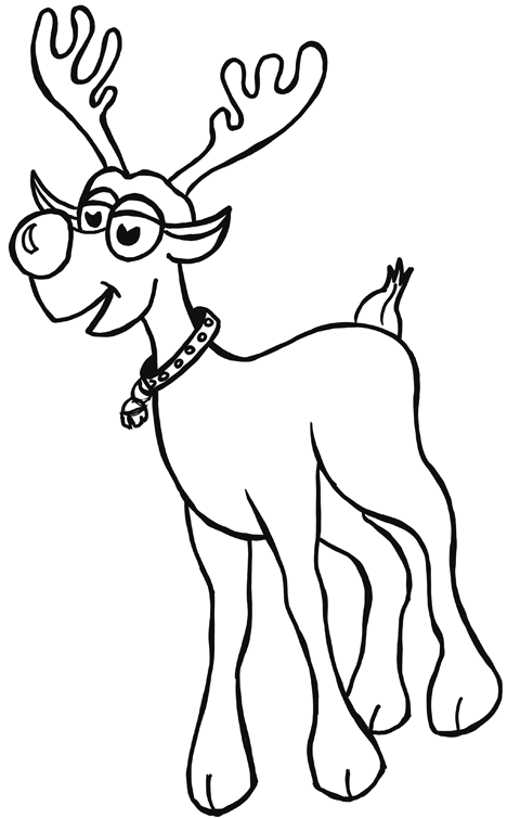 Reindeer Throwing Up Coloring Pages