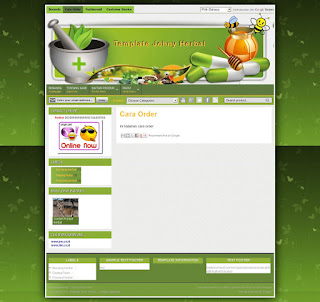 static page template toko herbal mantab