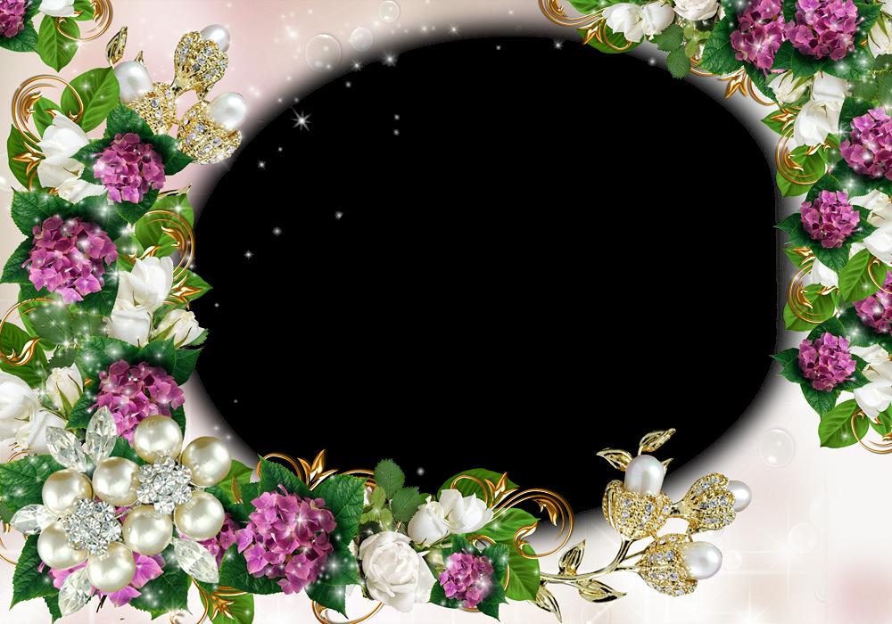 Marco de flores para fotos gratis - Imagui