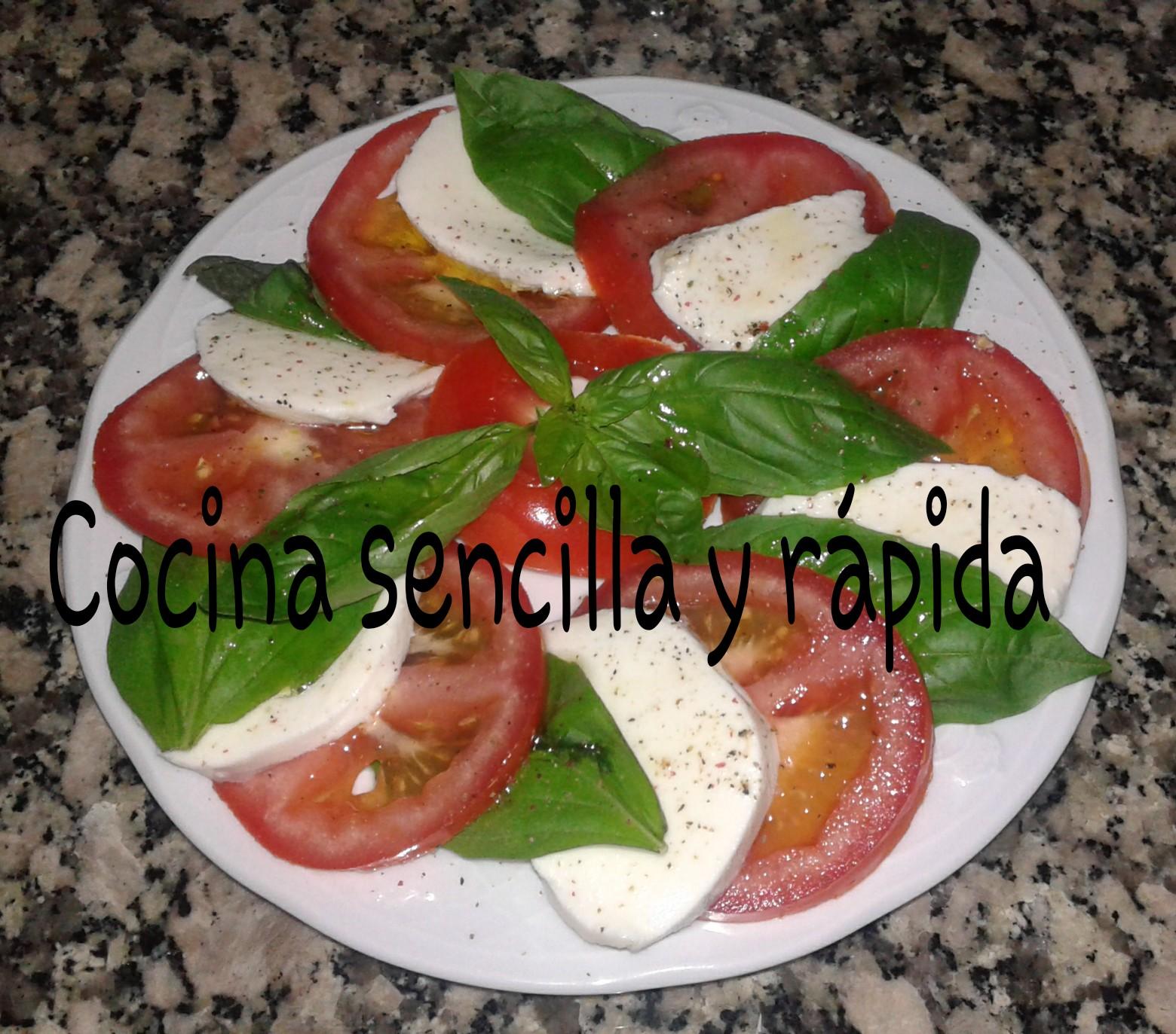 Cocina sencilla y r pida ensalada caprese for Cocina rapida y sencilla