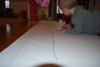 Kids can make this indoor racetrack and even turn it into an indoor city for hours of fun