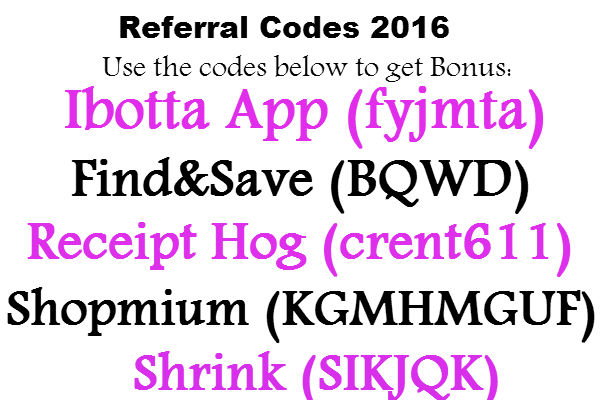 Ibotta App Referral Code 2018, Find&Save Referral Code, Receipt Hog Referral Code