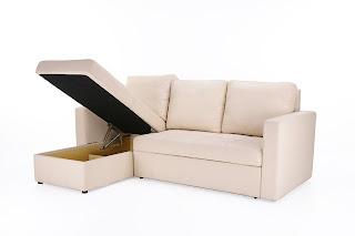 Sleeper Sofa With Chaise with Left Facing Storage